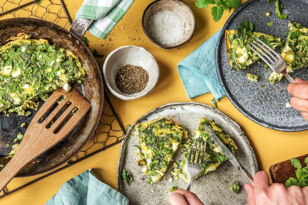 herb-asparagus-frittata-omelette-how to cook asparagus-recipe-HelloFresh