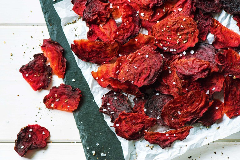 snack ideas-HelloFresh-recipes-baked-veggie-chips-beets