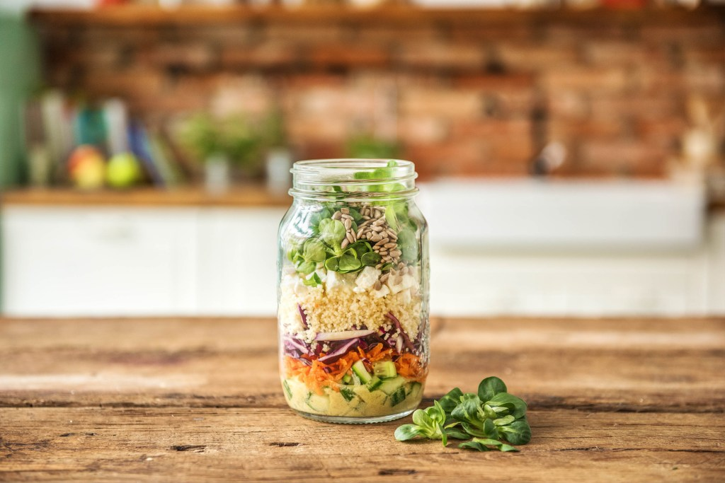 summer salads-recipes-mason-jar-feta-couscous-avocado-HelloFresh
