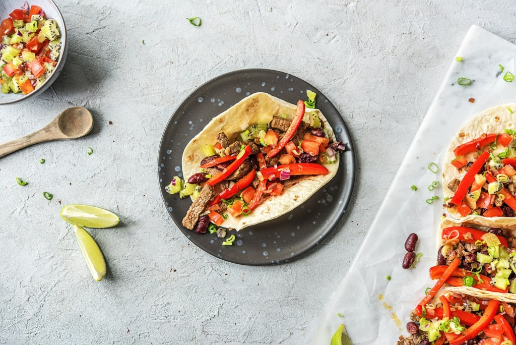 easy fajita recipe-plate-HelloFresh