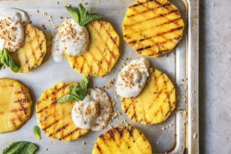 How to Grill Pineapple  (+some addictive toppings)