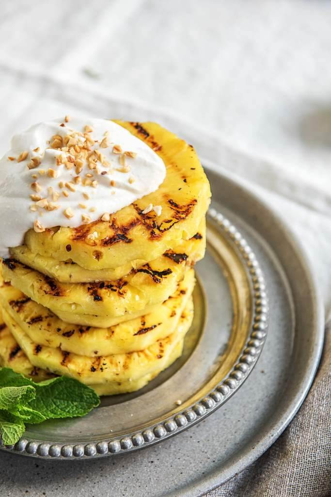 how to grill pineapple-coconut whipped cream-HelloFresh