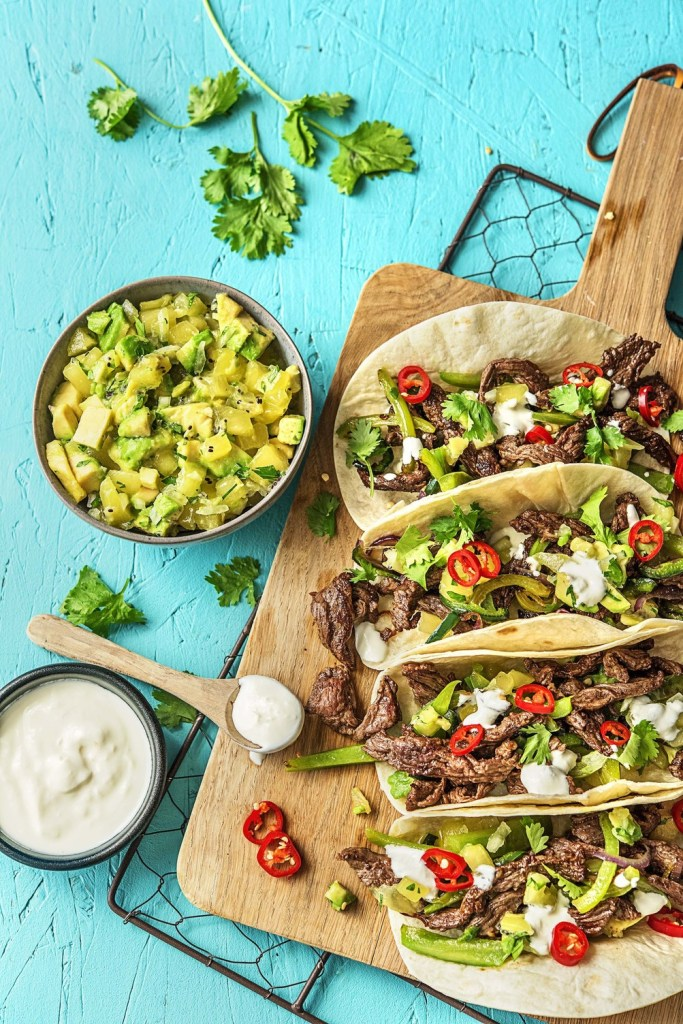 steak tacos-spread-HelloFresh