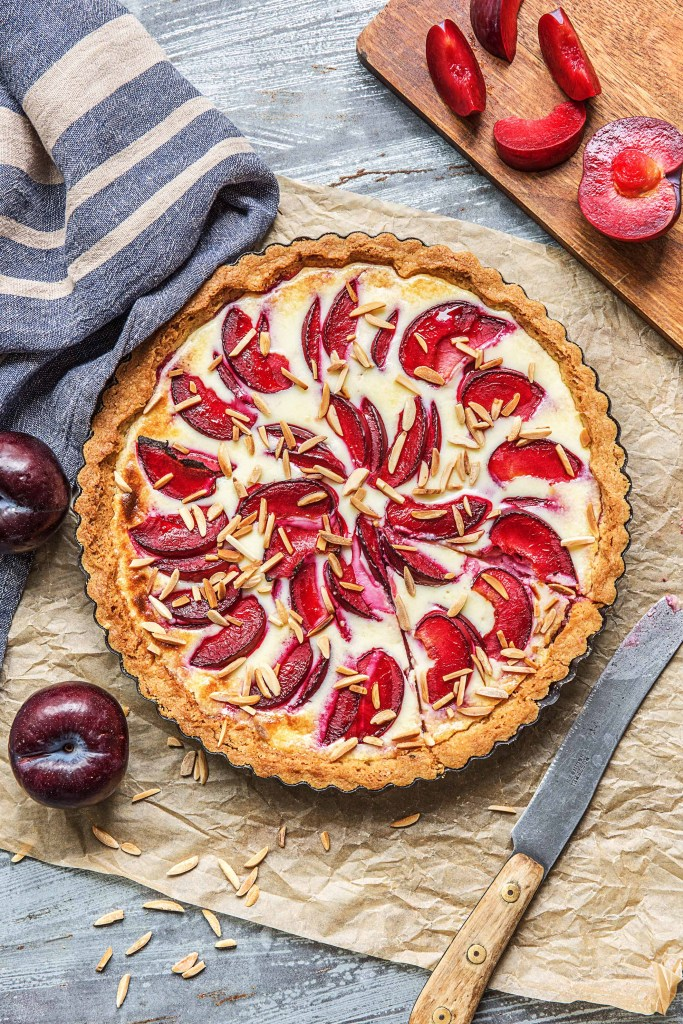 stone fruits-recipes-HelloFresh-almond-plum-tart