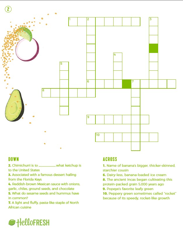 4 Fun And Printable Cooking Crossword Puzzles The Fresh Times