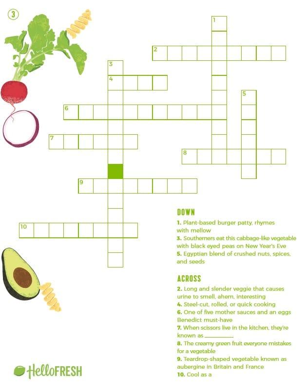 crossword puzzles printable-HelloFresh