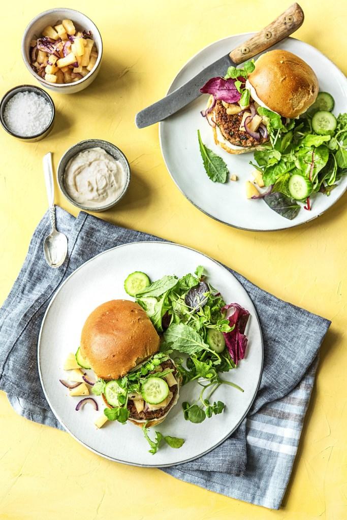 kid-friendly recipes-pineapple pork burger-HelloFresh