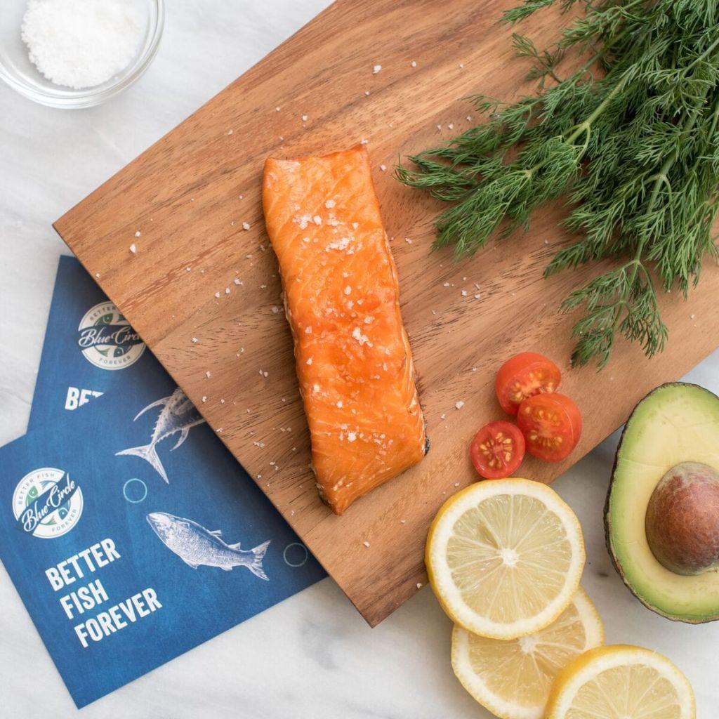 easy salmon recipe-blue circle-HelloFresh