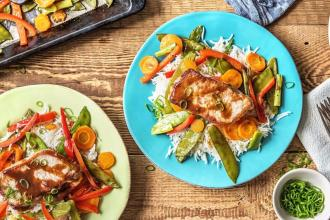 dinner ideas for family-sweet-soy-glazed-pork-HelloFresh