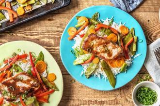 dinner ideas for family-sweet-soy-glazed-pork-HelloFresh