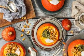 Creamy Roasted Pumpkin Soup Recipe