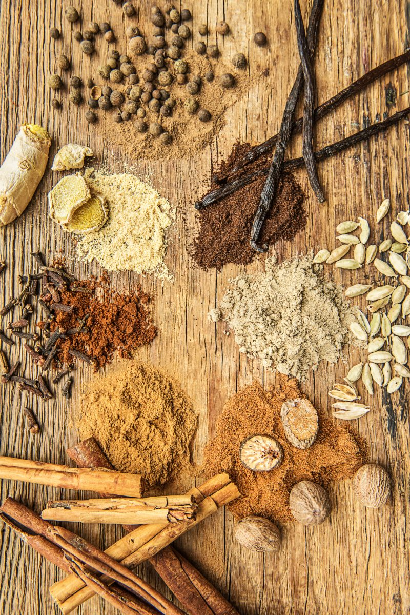 Herbs and Spices-HelloFresh-Cinnamon-Allspice-Ginger-Cloves-Nutmeg-Cardamom-Vanilla