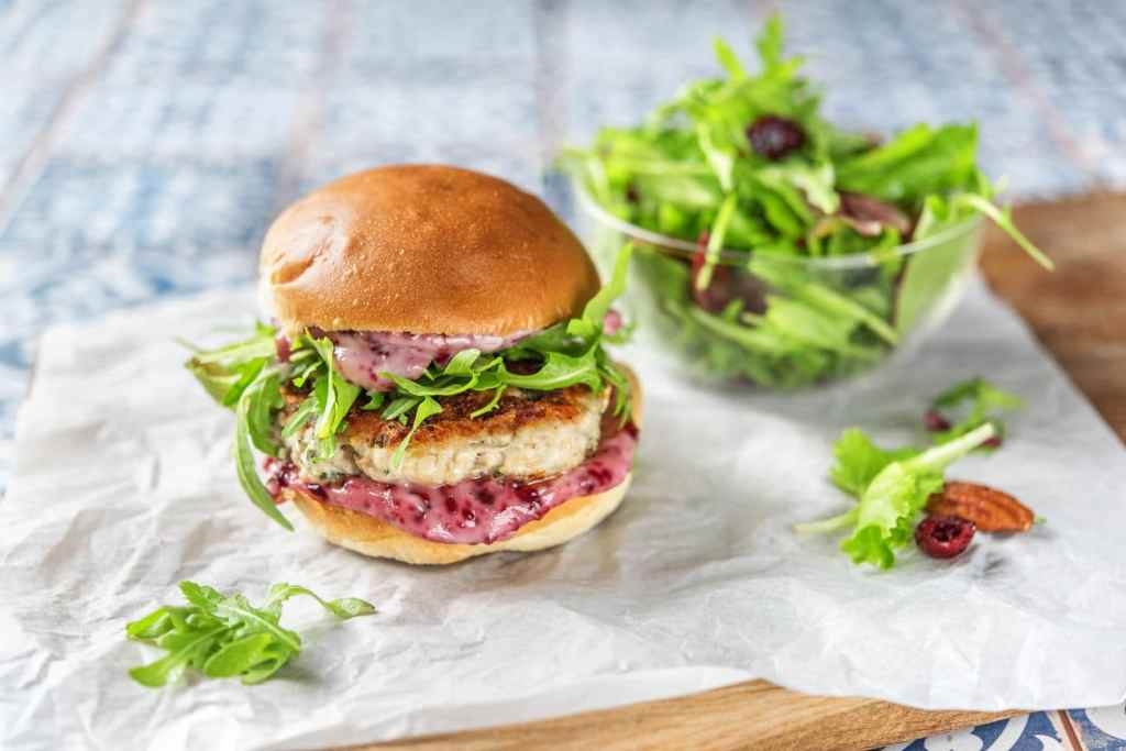 cranberry recipes-HelloFresh-turkey burger