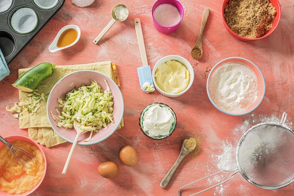 zucchini bread muffins-recipe-HelloFresh