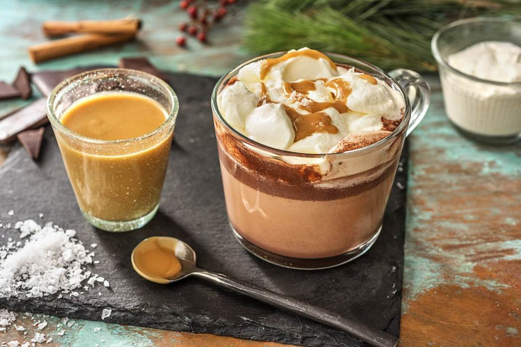 chocolate recipes-HelloFresh-salted-caramel-hot chocolate