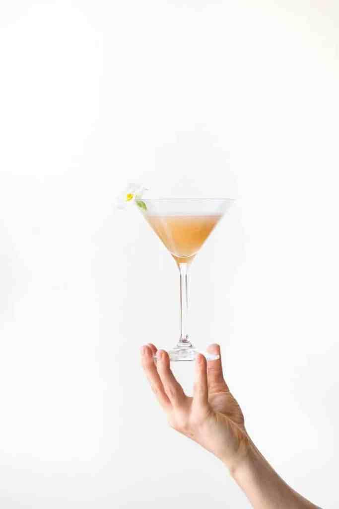 holiday drinks-peach-bellini-HelloFresh