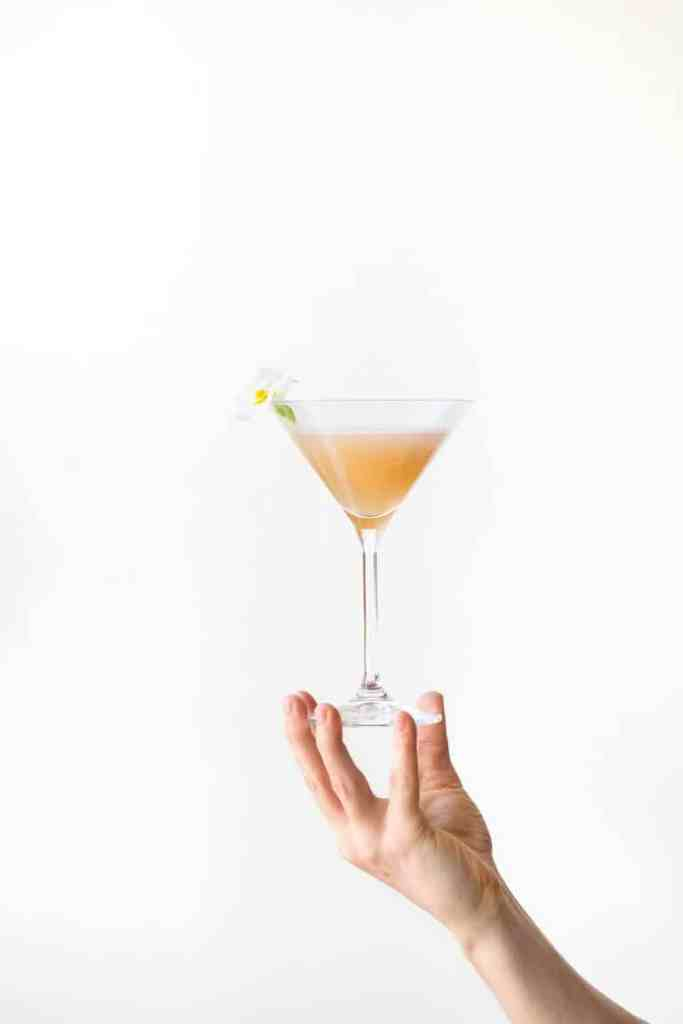 holiday drinks-peach-bellini-HelloFresh