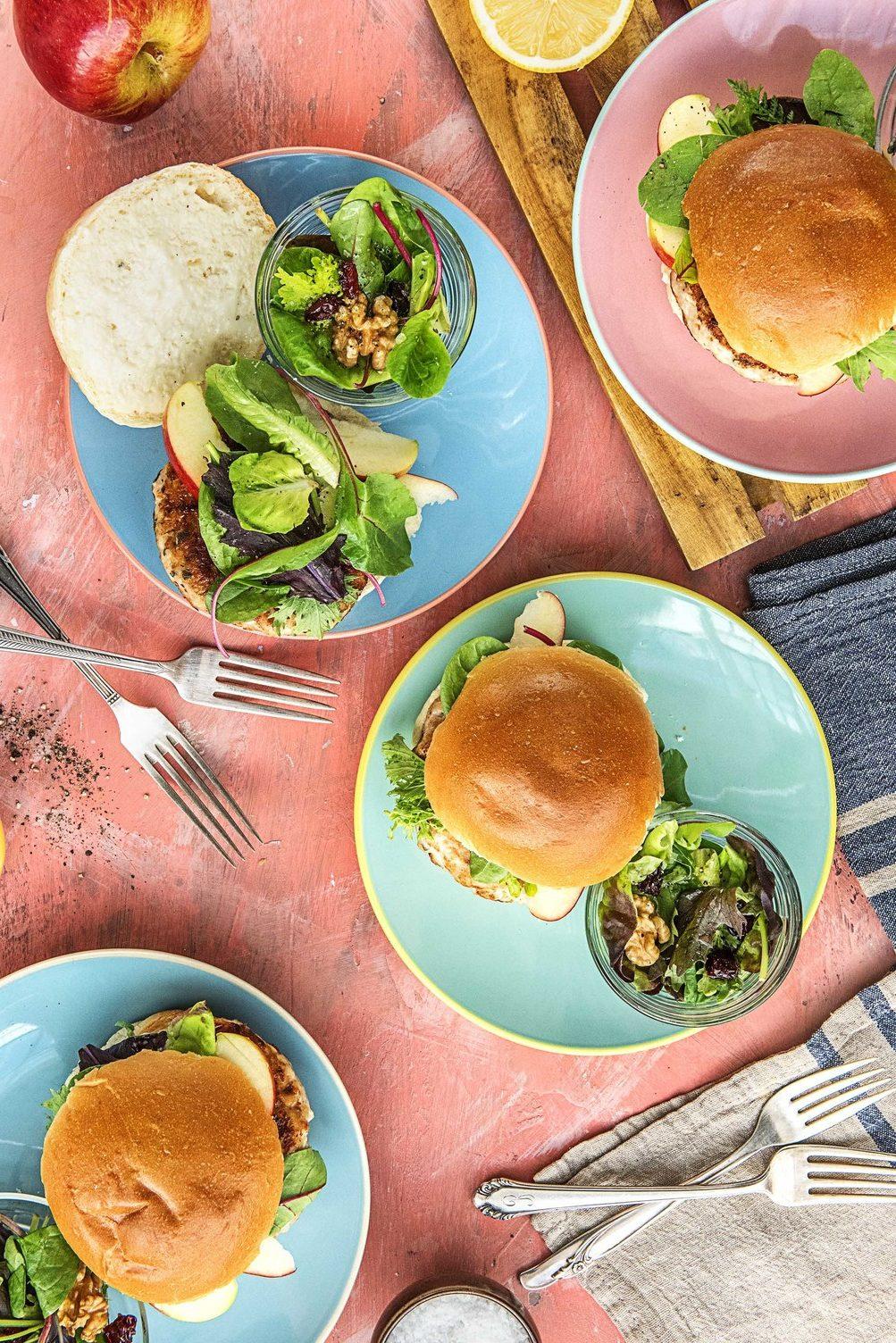 meatloaf burgers-HelloFresh-apple sage turkey burgers