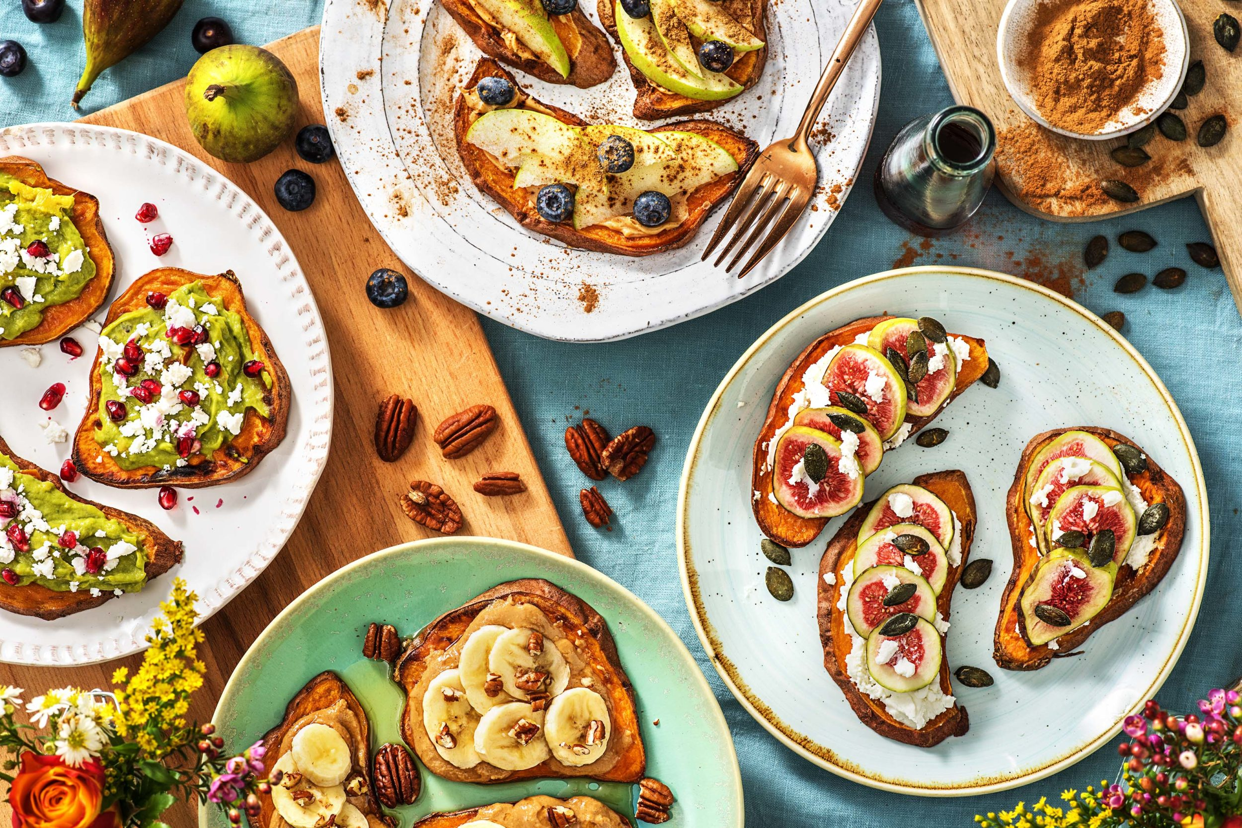 Sweet Potato Toast With Ginger-Honey Almond Butter and Kiwi
