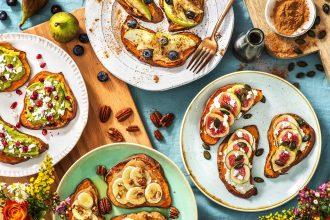 sweet potato toast-4-ways-recipes-HelloFresh