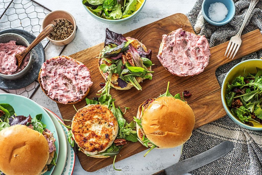 sweet and savory-cranberry-turkery-burgers-HelloFresh-dried-fruit