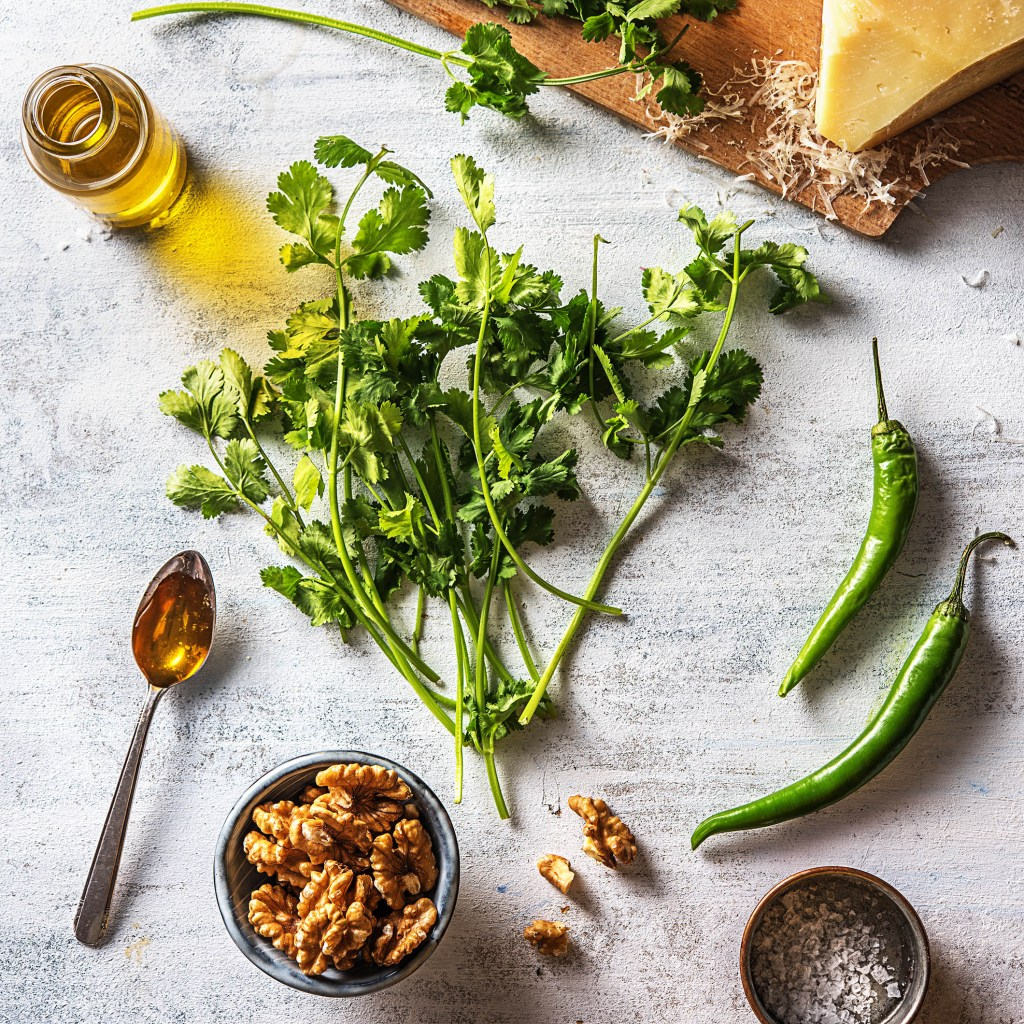 repurpose-fresh herbs-HelloFresh-pesto