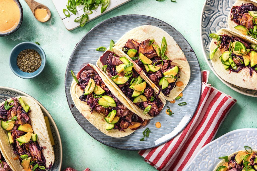 easy korean recipes-bulgogi-chicken-thigh-tacos-HelloFresh