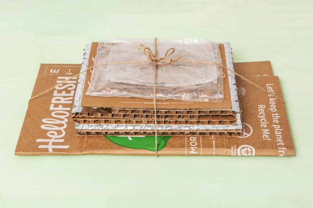 recycling projects-HelloFresh-earth-day-packaging