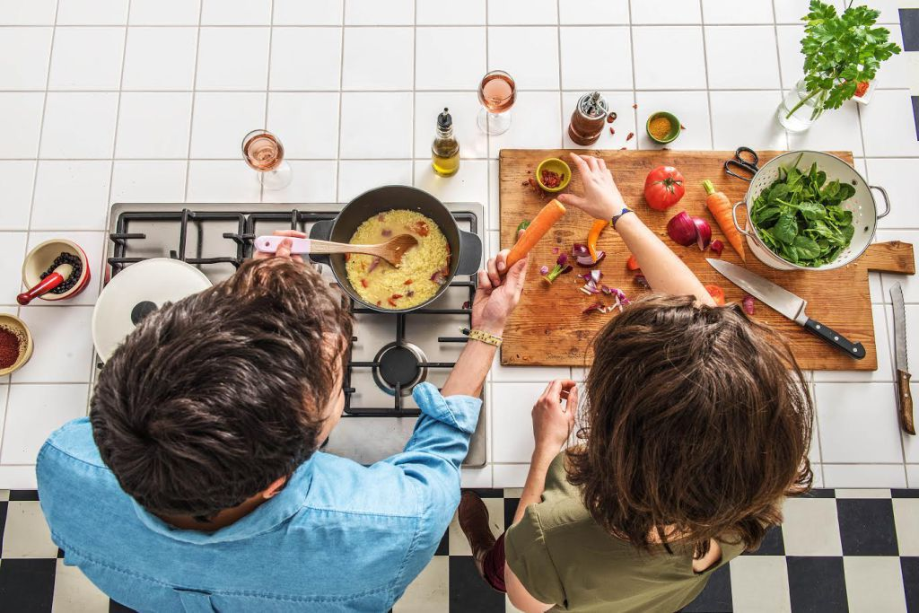 make cooking fun-cook-with-friends-HelloFresh