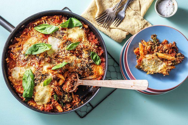easy chicken casserole-pork-bolognese-casserole-HelloFresh