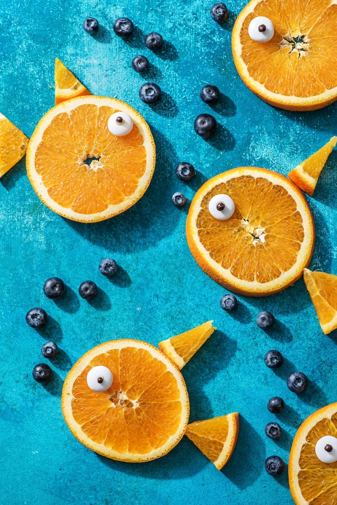 snack ideas for kids-citrus-fish-blueberry-bubbles-HelloFresh
