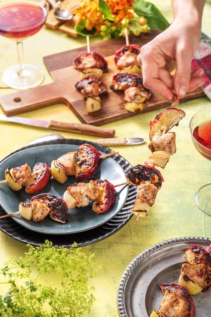 sweet-savory-skewer-recipes-HelloFresh-jerk-chicken-peach-skewers