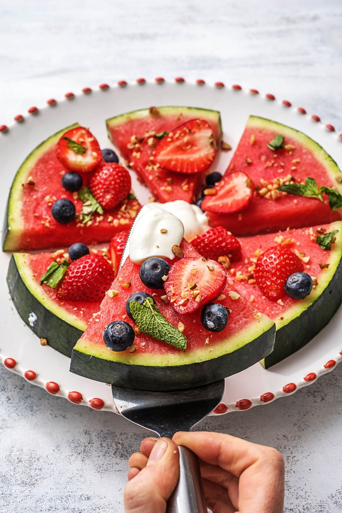 easy snacks-watermelon pizza-HelloFresh