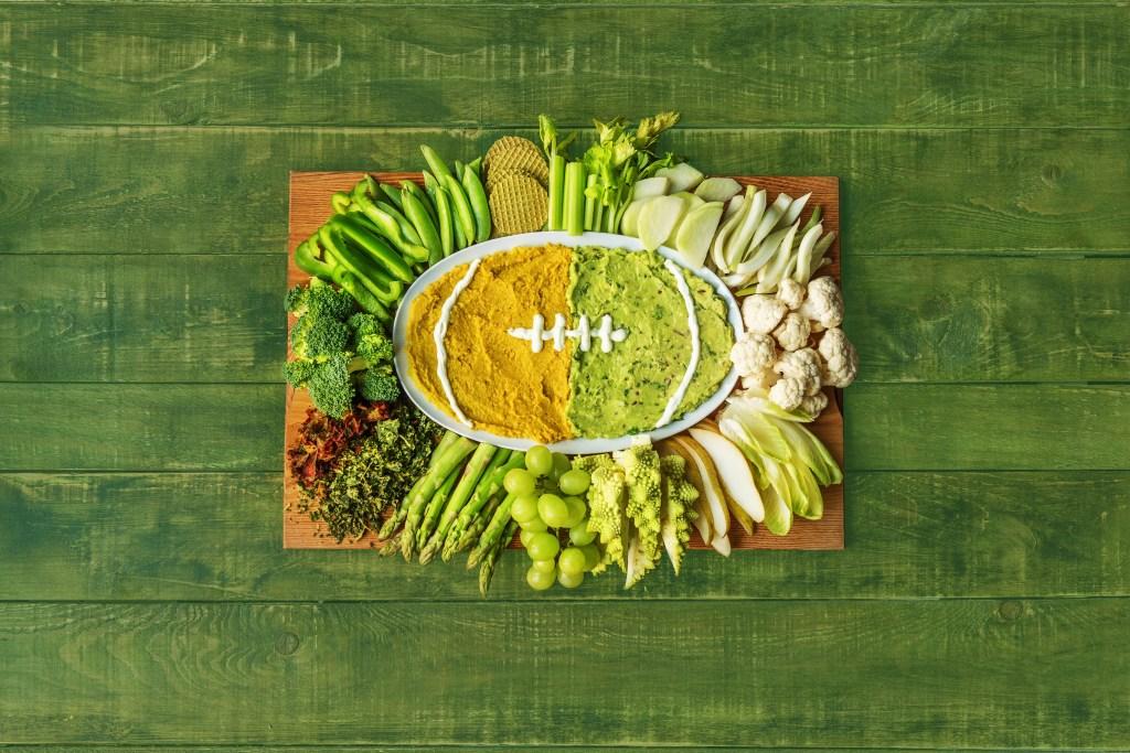 super bowl recipes-hummus-football-HelloFresh