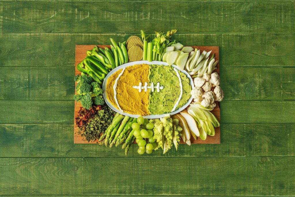 super bowl recipes-hummus-football-HelloFresh