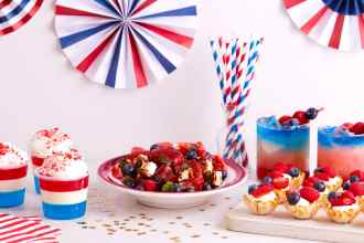 Red White and Blue recipes hero image
