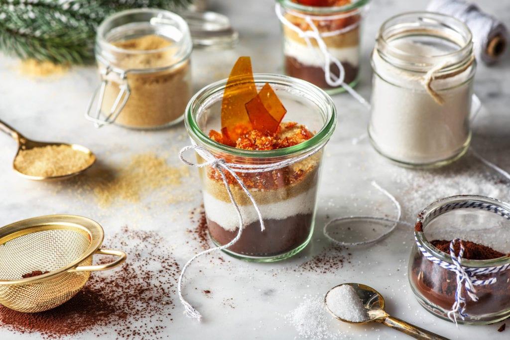 Heiße Schoki-Mischung Karamell