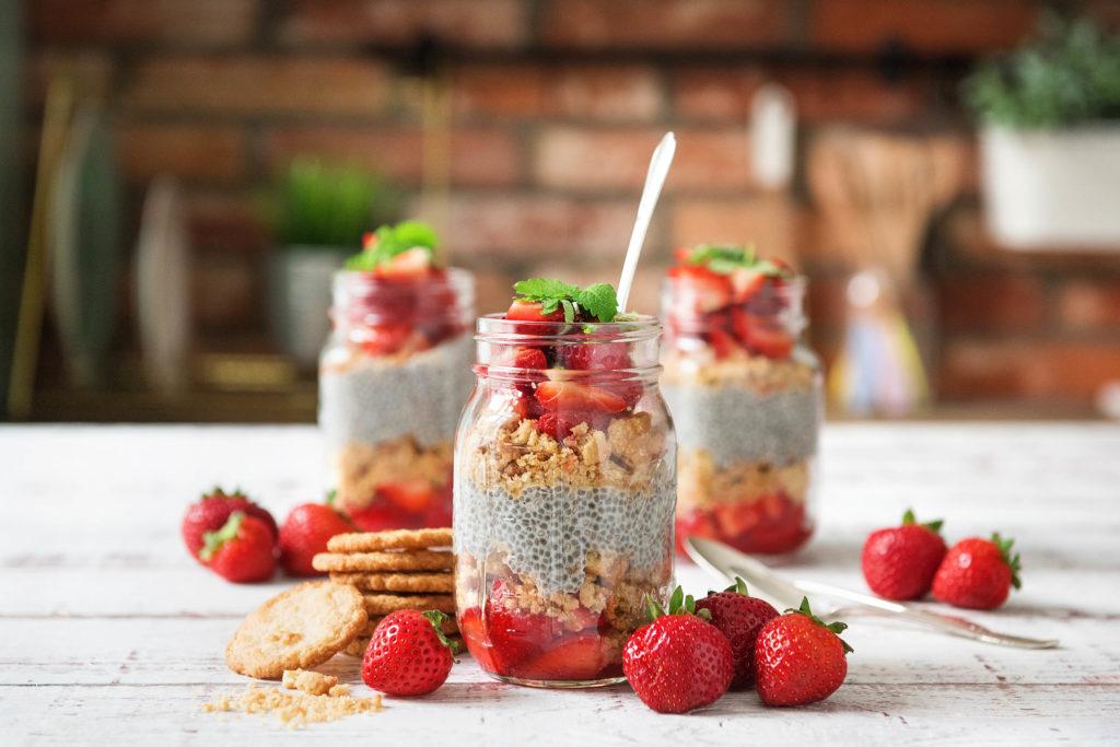 Erdbeer-Chia-Pudding