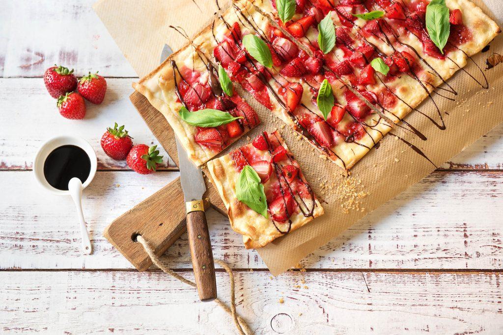 Unsere last minute Rezepte mit Erdbeeren: Erdbeerpizza