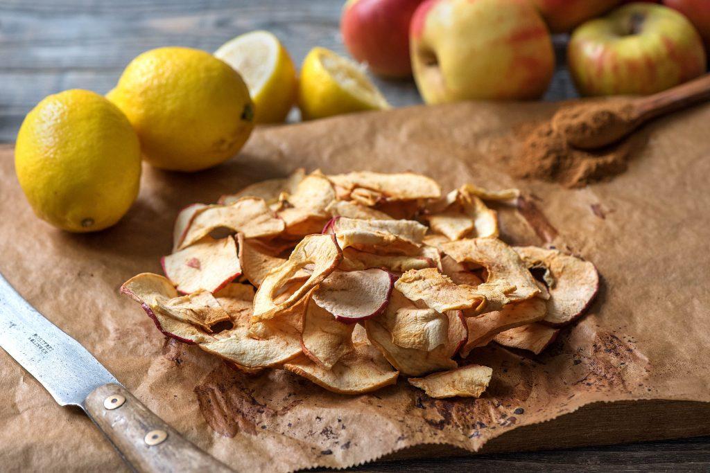 Apfelchips selber machen: fertige Apfelchips