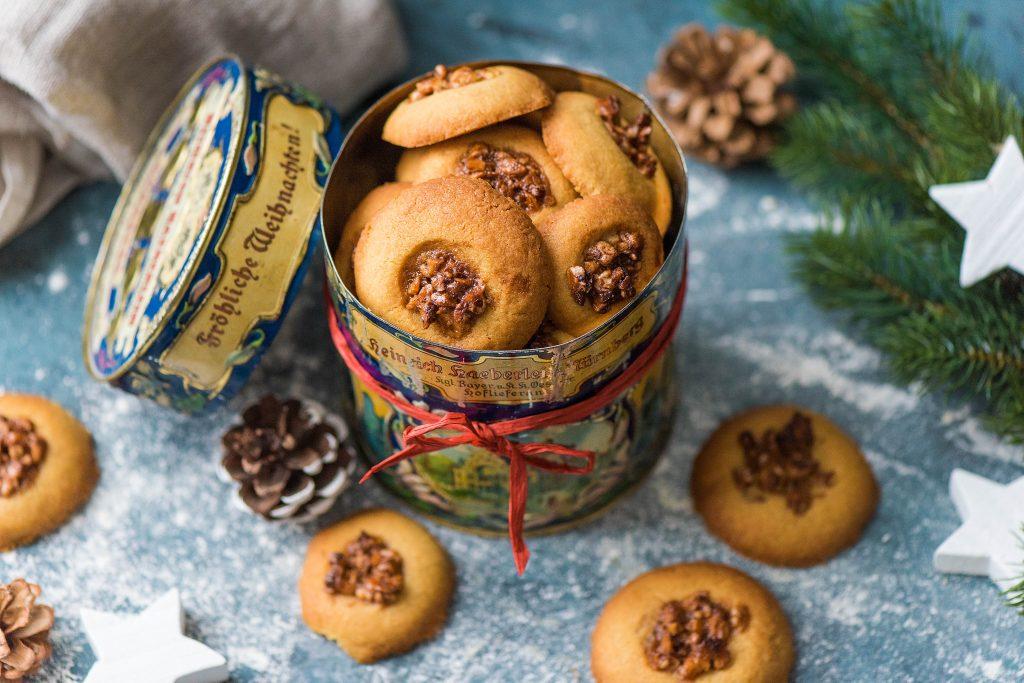Weihnachtsbäckerei: Keksdose
