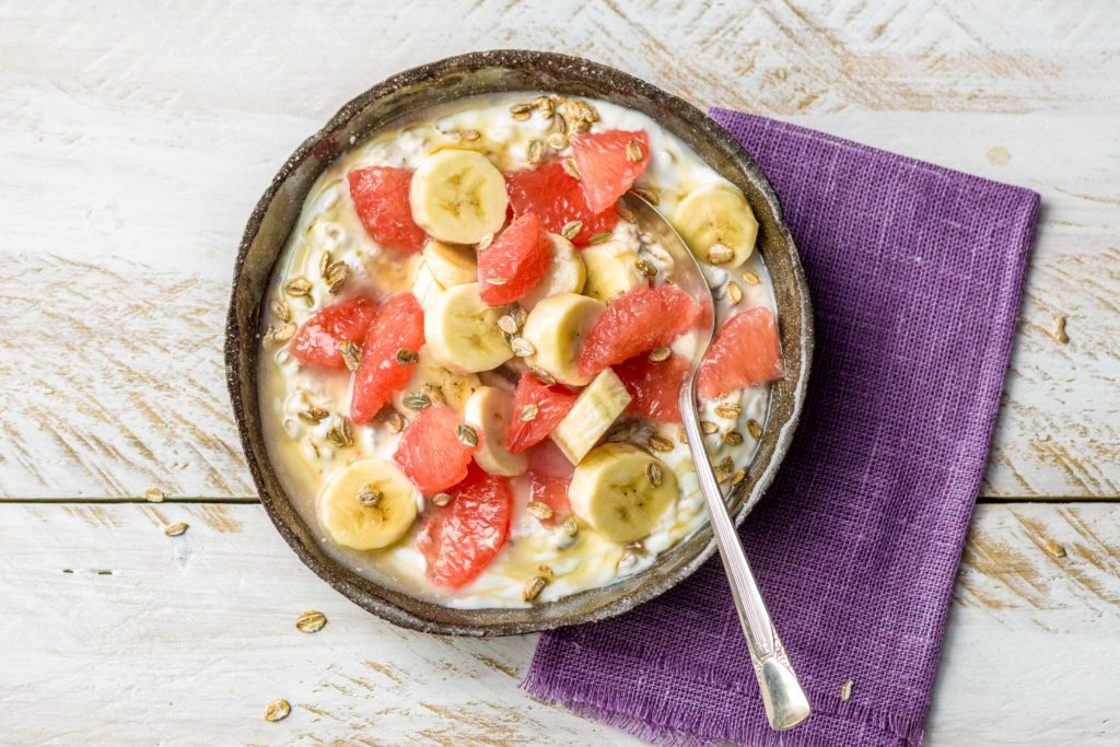 Grapefruit in der Smoothiebowl
