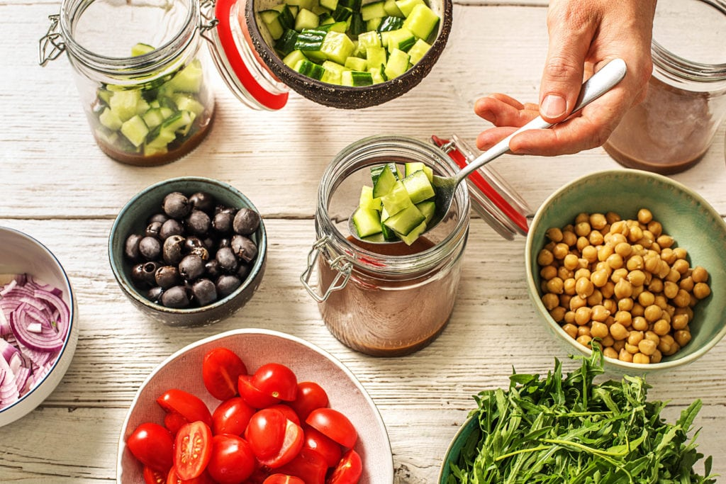 Picknick Rezept Nr. 1: Salat im Glas