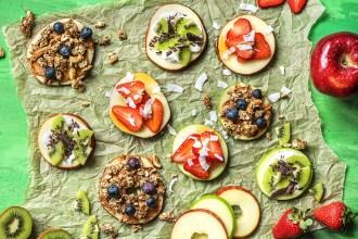 Der Snack für Zwischendurch: Apfelpizzen