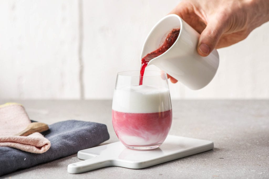 Pink und gesund: Der Rote Beete-Latte