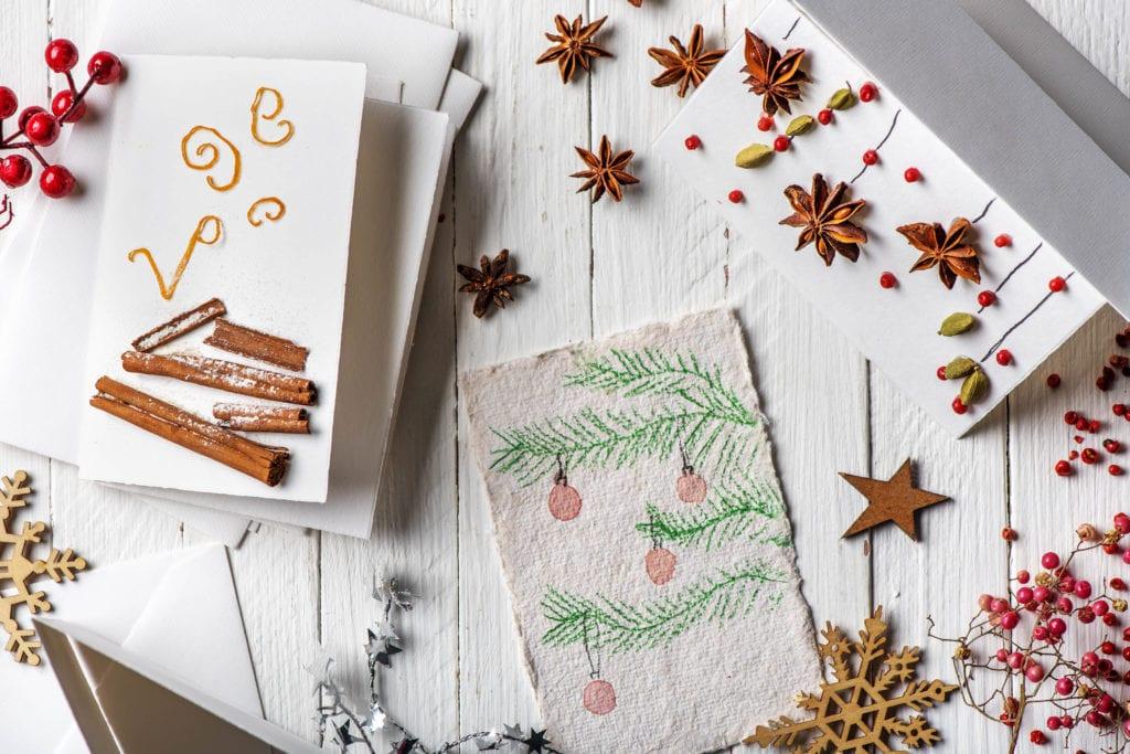 Weihnachtskarten selber basteln für Kleine und Große