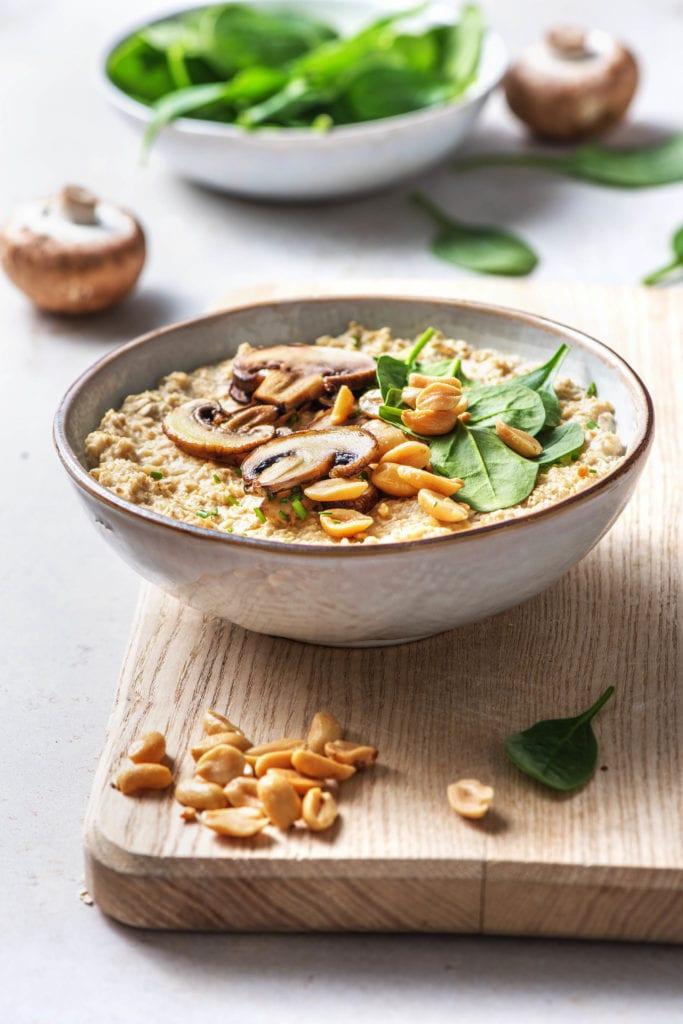 Porridge mit Champignons