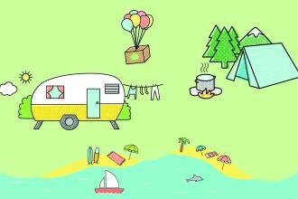 5x koken op de camping