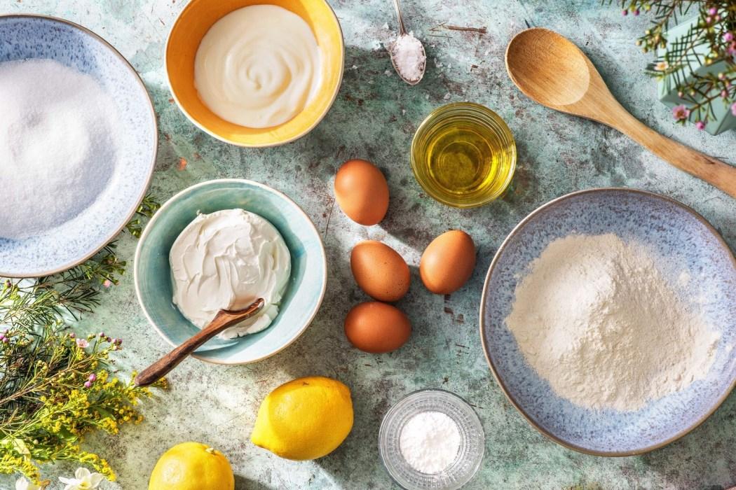 Citroen-yoghurttaart met gekonfijte citroen