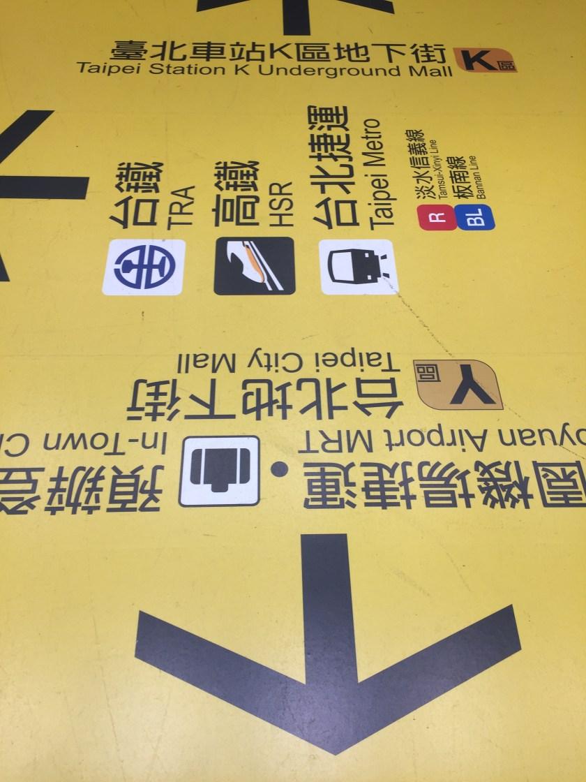 MRT ground map taipei station